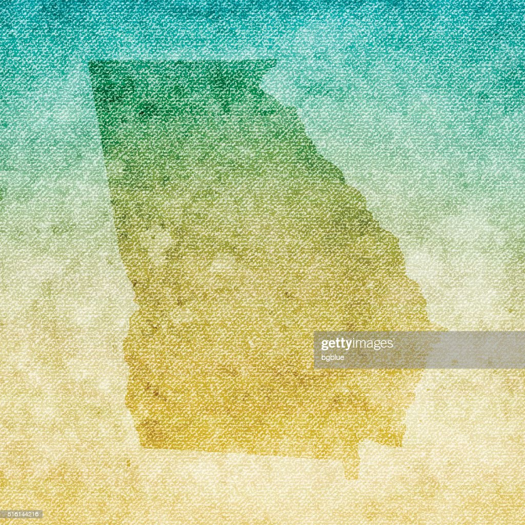 Georgia Map On Grunge Canvas Background High Res Vector Graphic Getty Images