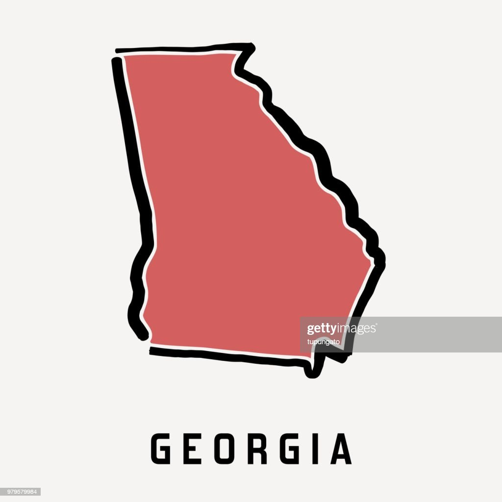 Georgia map outline