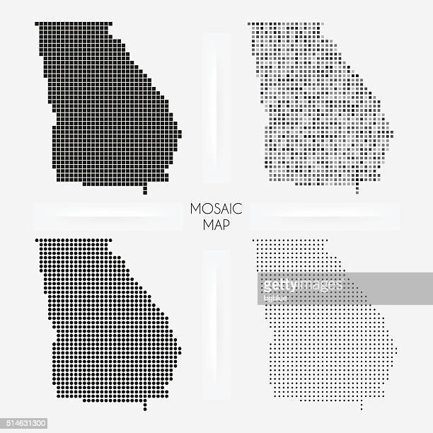Georgia maps - Mosaic squarred and dotted