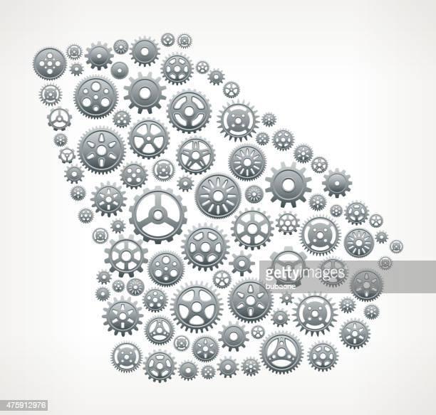 ilustraciones, imágenes clip art, dibujos animados e iconos de stock de georgia engranajes metálicos y pinions patrón. - georgia estado de eeuu
