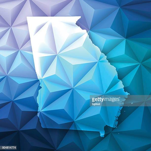 Georgia on Abstract Polygonal Background - Low Poly, Geometric