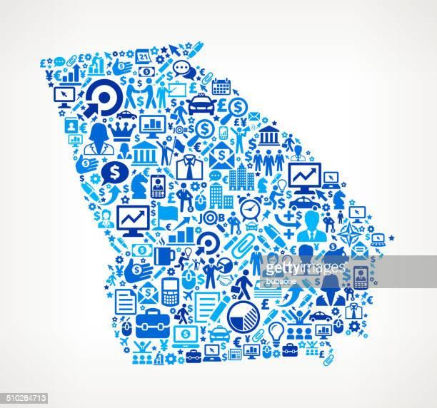 ilustraciones, imágenes clip art, dibujos animados e iconos de stock de georgia por negocios, arte vectorial sin royalties de patrón - georgia estado de eeuu