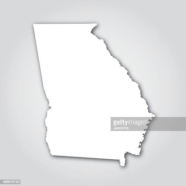 georgia silhouette white - atlanta stock illustrations, clip art, cartoons, & icons