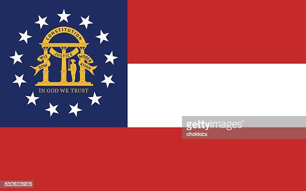 georgia state flag - 2015 stock illustrations