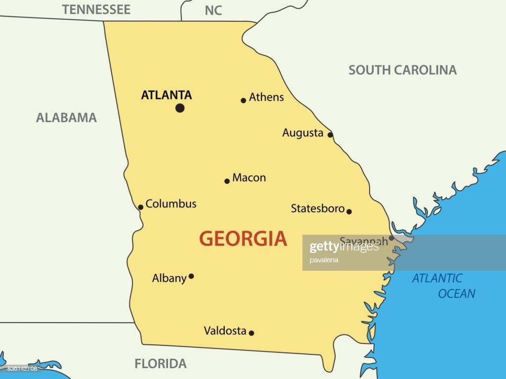 Georgia - US state - vector map