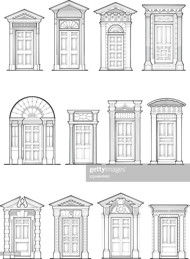 Georgian Door Details  Vector Art  sc 1 st  Getty Images : georgian door - pezcame.com