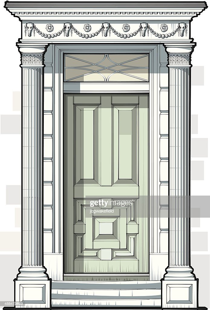 Super Georgian Door With Fluted Columns High Res Vector Graphic Door Handles Collection Olytizonderlifede