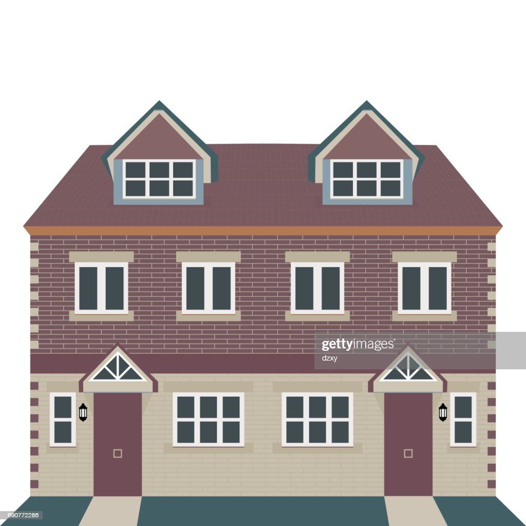 Georgian House Vector Illustration