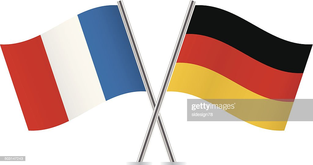 German and french flags.