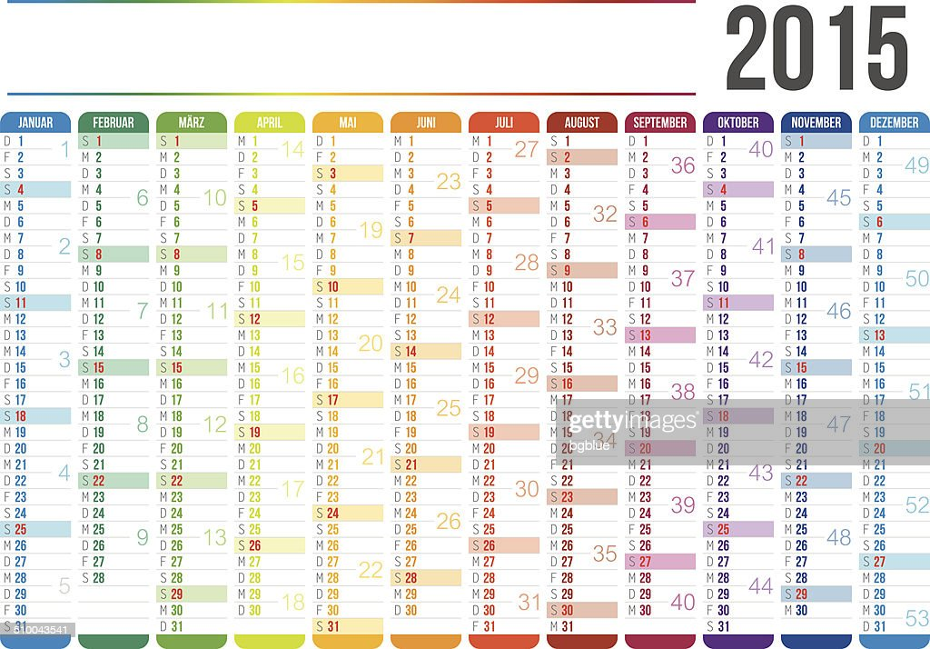 German Calendar 2015