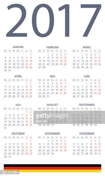 German Calendar 2017 - illustration