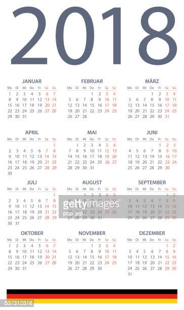 German Calendar 2018 - illustration