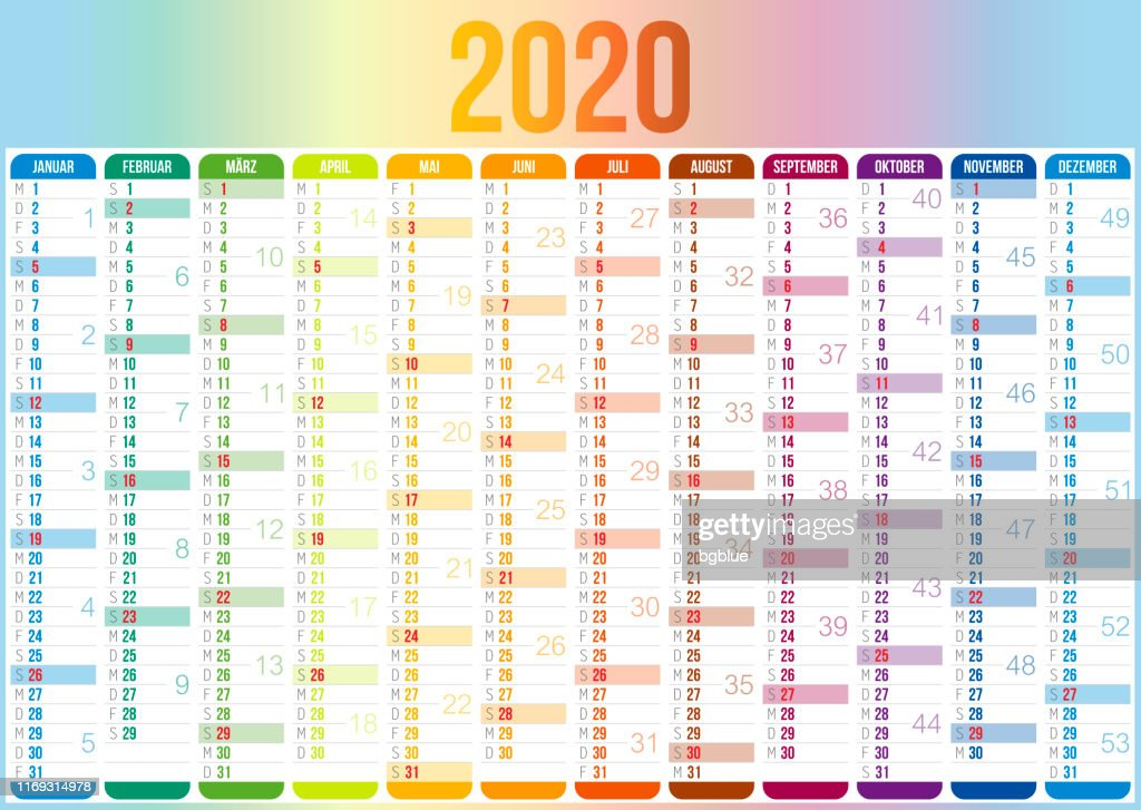 Calendrier Allemand 2020.Calendrier Allemand 2020 Illustration Getty Images