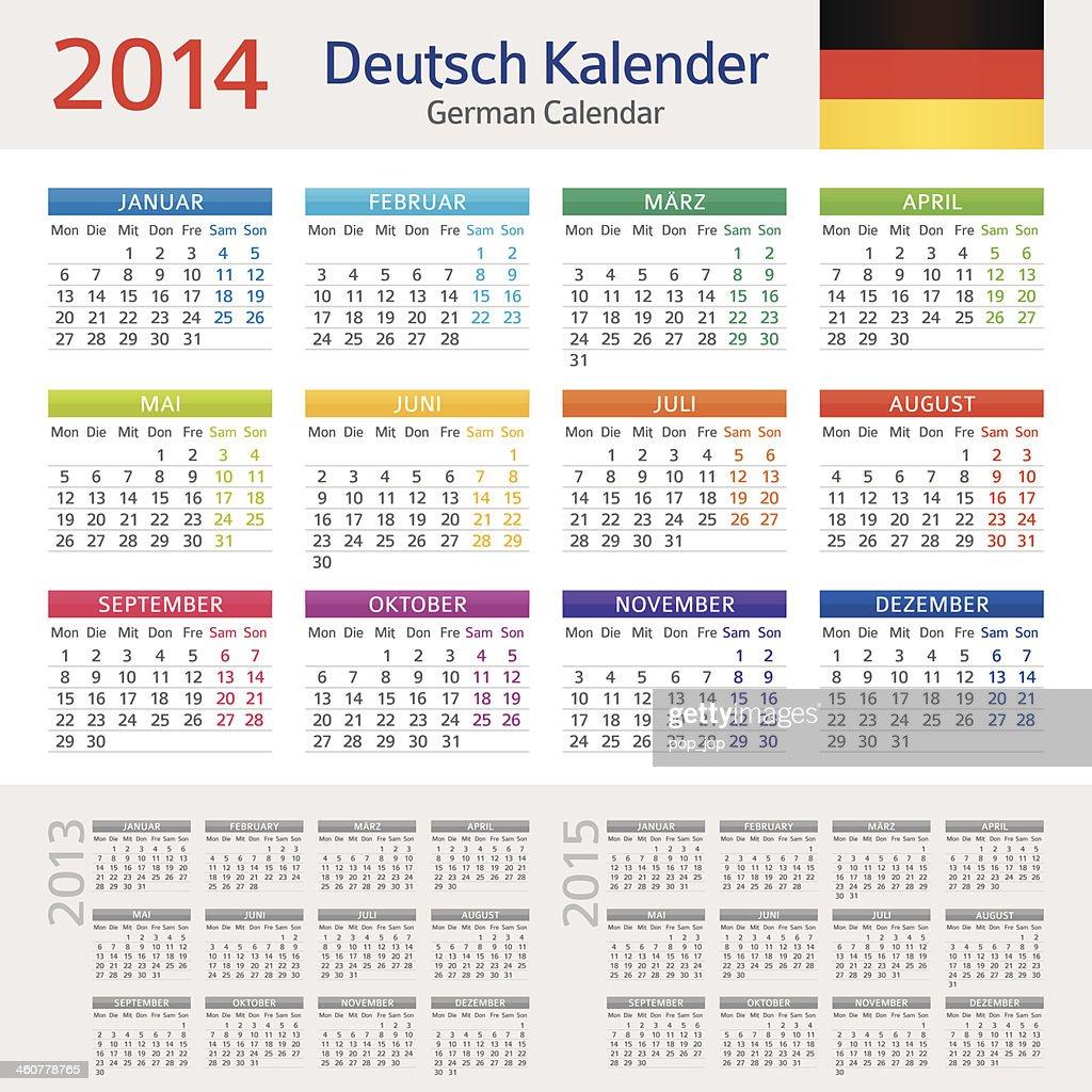 German Calendar / Deutsch Kalender 2014