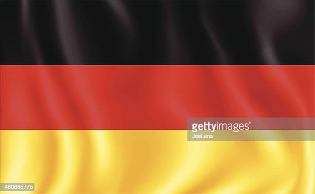 deutsche flagge - deutsche flagge stock-grafiken, -clipart, -cartoons und -symbole