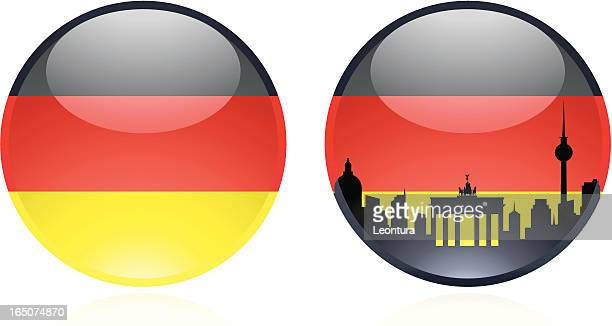 german marble - brandenburg gate stock illustrations, clip art, cartoons, & icons