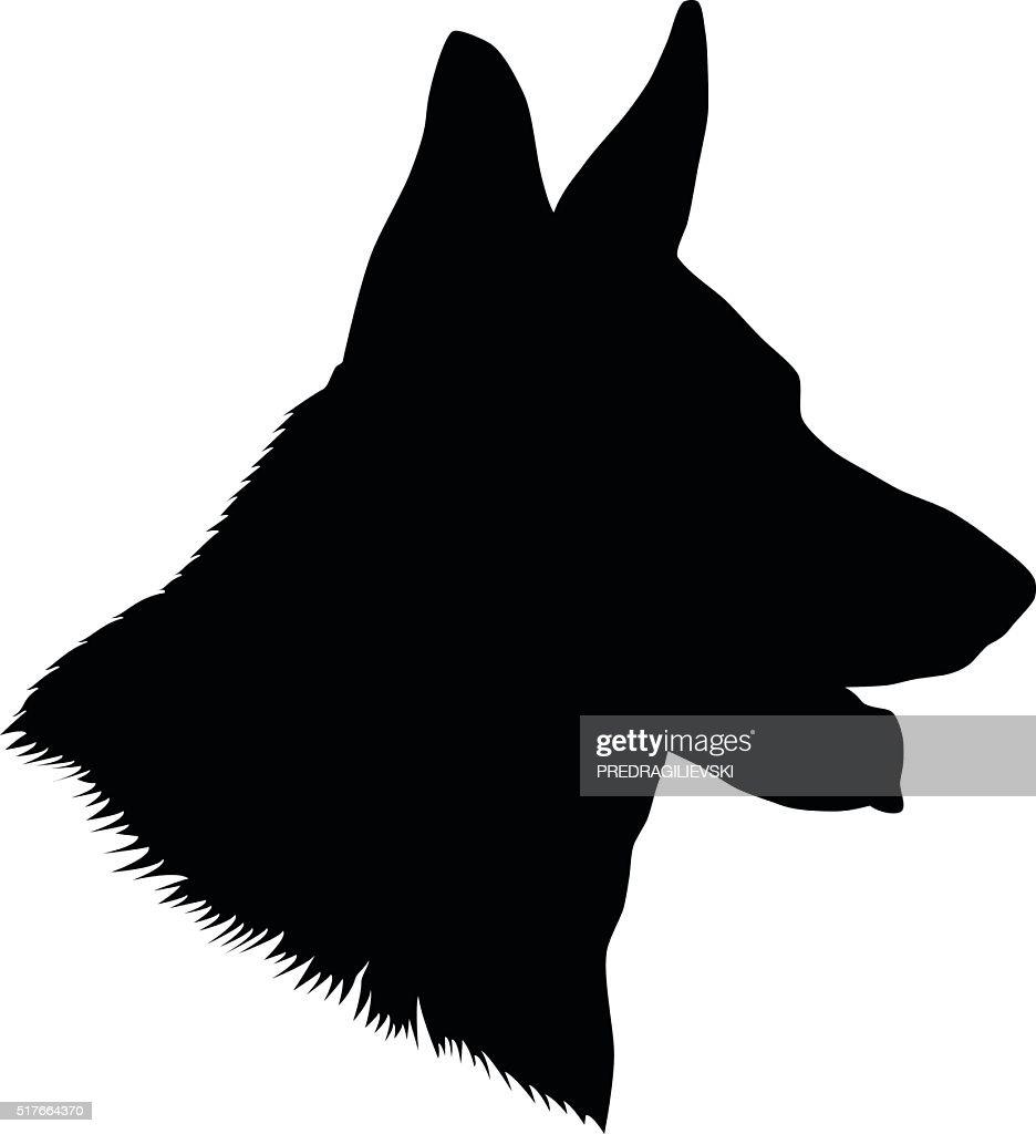 German Shepherd Head Silhouette