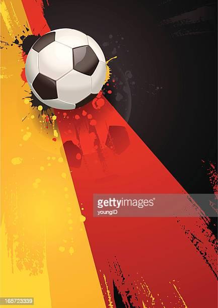 deutsche fußball-hintergrund - deutsche flagge stock-grafiken, -clipart, -cartoons und -symbole