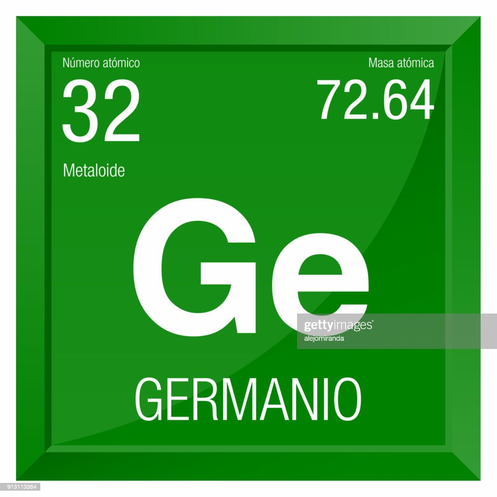Germanio Symbol Germanium In Spanish Language Element Number 32 Of