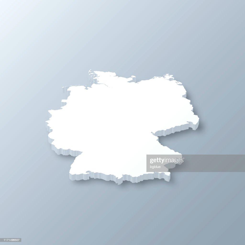 Mappa 3D germania su sfondo grigio : Illustrazione stock