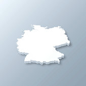 Germany 3D Map on gray background