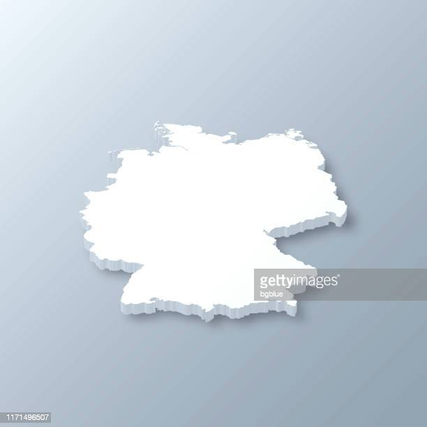 germany 3d map on gray background - germany stock illustrations