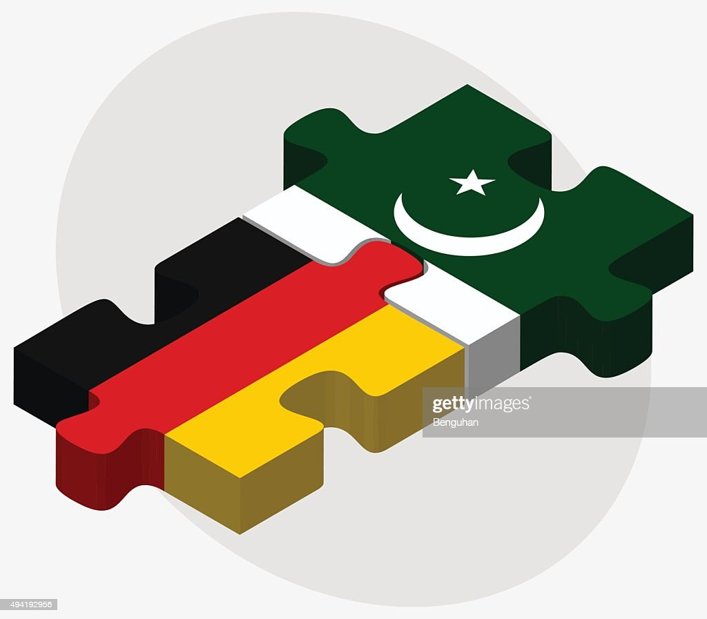 Germany and Pakistan Flags