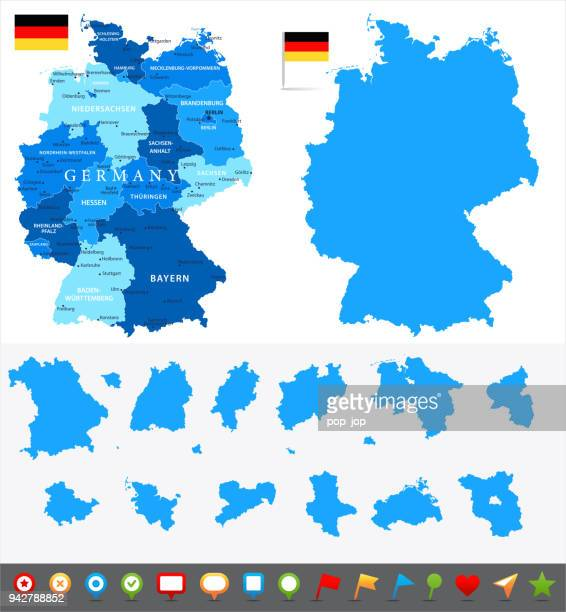29 - germany - blue and pieces 10 - north rhine westphalia stock illustrations