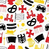 germany country theme symbols seamless pattern eps10