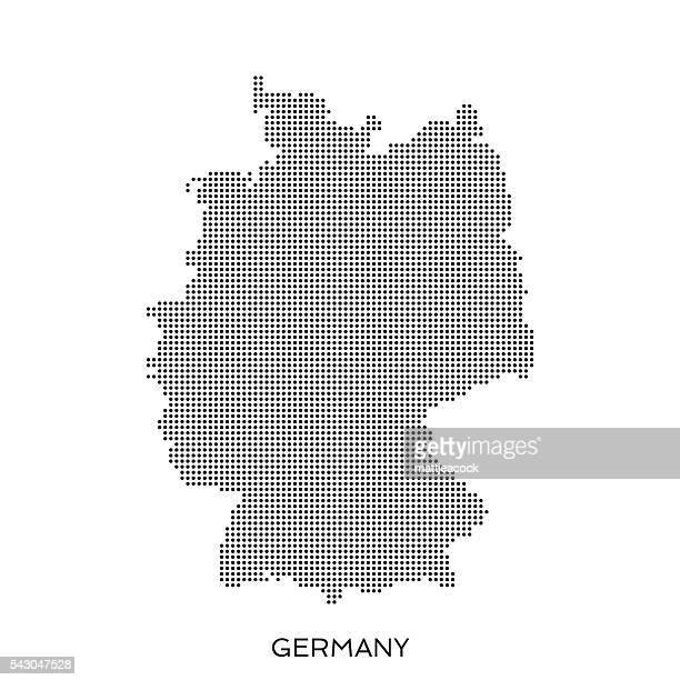 Pois carte à motif en demi-teinte Allemagne