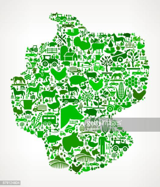 Germany Farming and Agriculture Green Icon Pattern