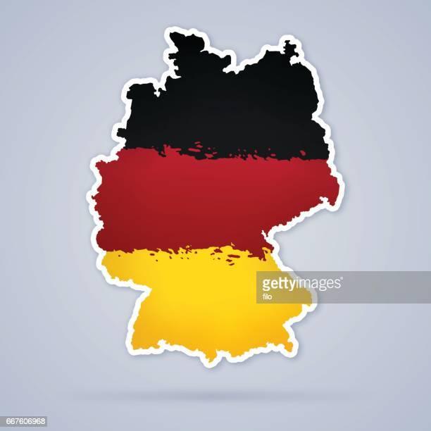 Deutschland-Flagge Karte