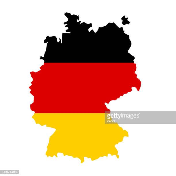 germany flag map - germany stock illustrations
