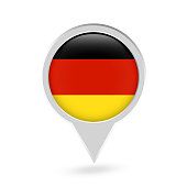 Germany Flag Round Pin Icon