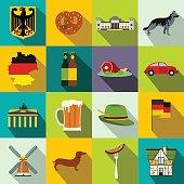 Germany flat icons