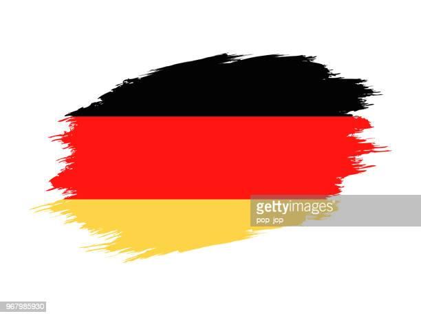deutschland - grunge vektor flache flaggensymbol - deutsche flagge stock-grafiken, -clipart, -cartoons und -symbole