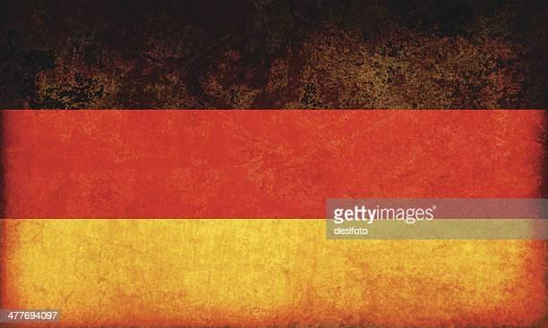 deutschland grunge flagge - deutsche flagge stock-grafiken, -clipart, -cartoons und -symbole