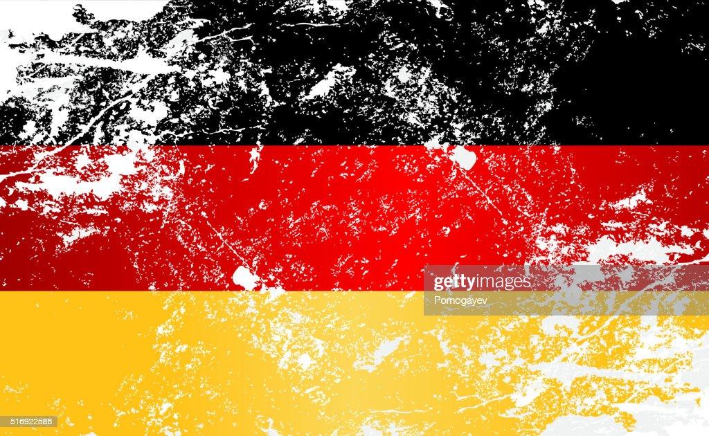 Germany Grunge Texture Flag