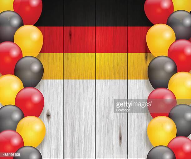 Deutschland Urlaub Hintergrund [ Flagge und Ballons ]