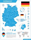 Germany - infographic map - Illustration