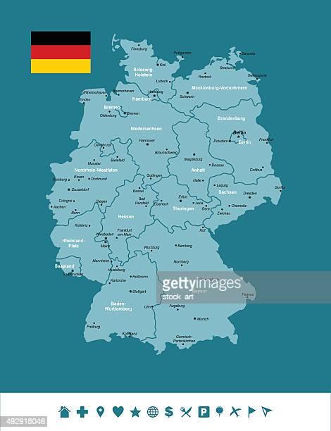 Infographie carte d'Allemagne