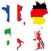 Germany, Italy, France, UK.