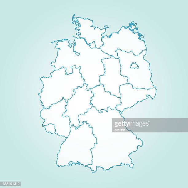 Simple Map Of Germany.30 Top Simple Map Of Germany Stock Vector Art And Graphics Getty