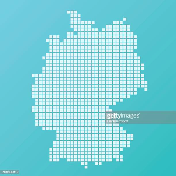 germany map basic square pattern turquoise - germany stock illustrations