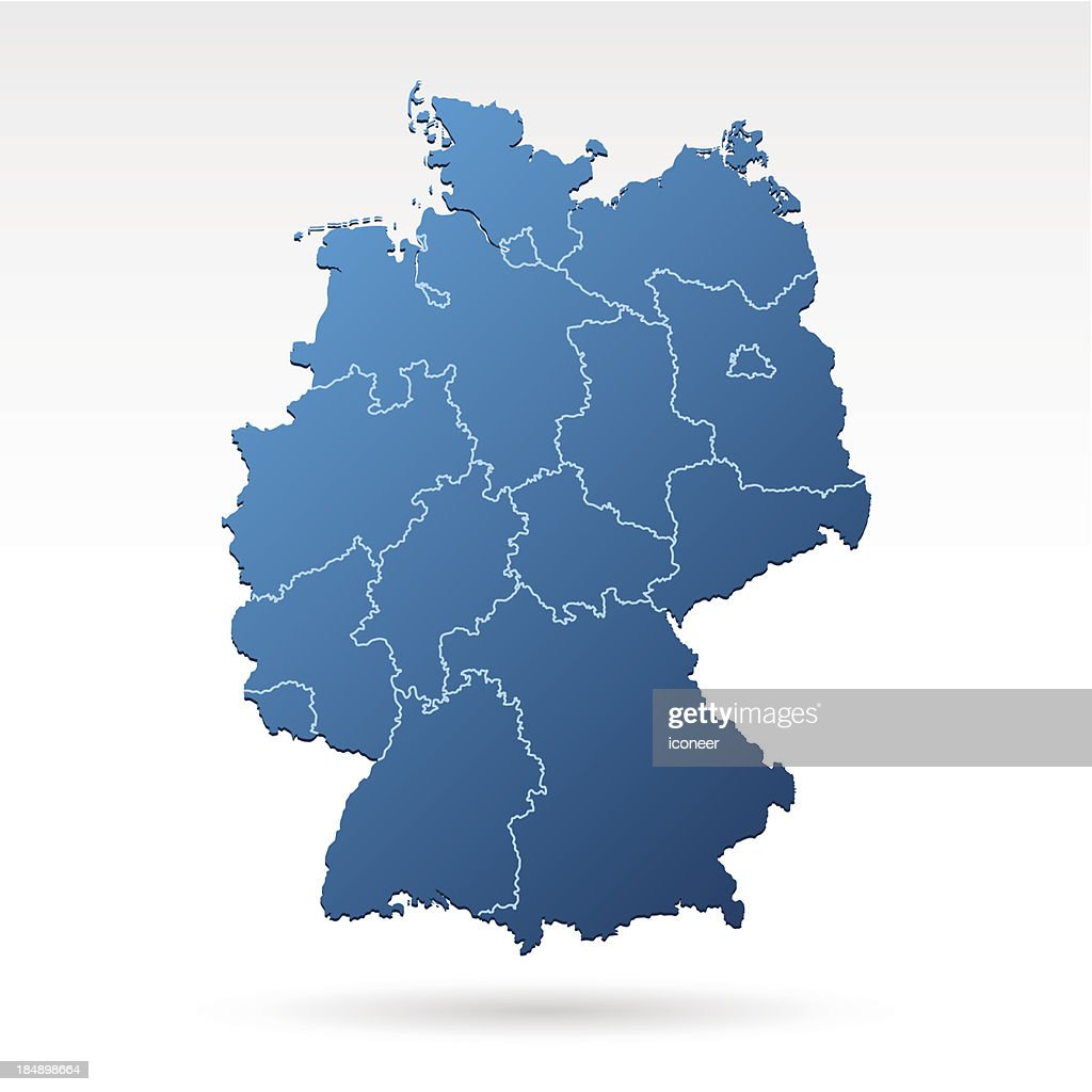 deutschlandkarte blau Deutschlandkarte Blau Stock Illustration   Getty Images