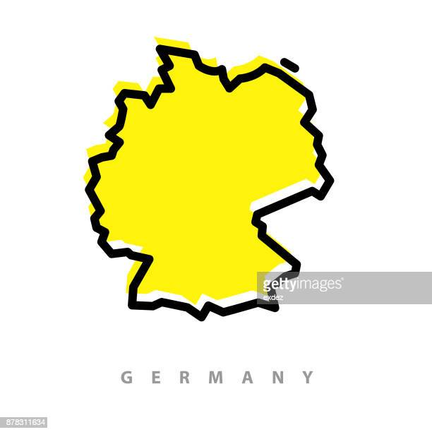 germany map illustration - germany stock illustrations