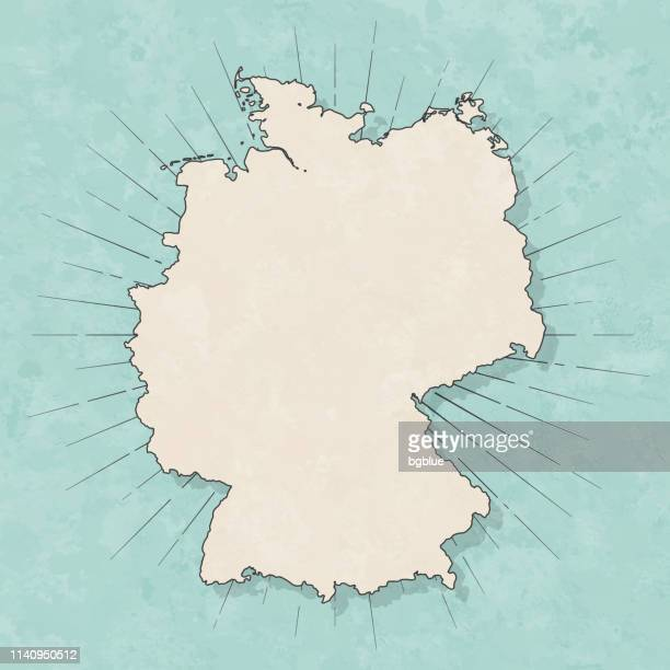 germany map in retro vintage style - old textured paper - germany stock illustrations