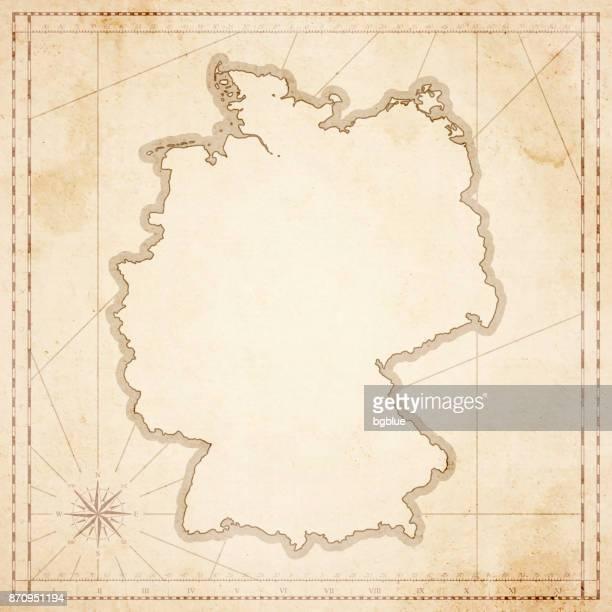 Deutschland Karte im Retro-Vintage-Stil - strukturierte Altpapier