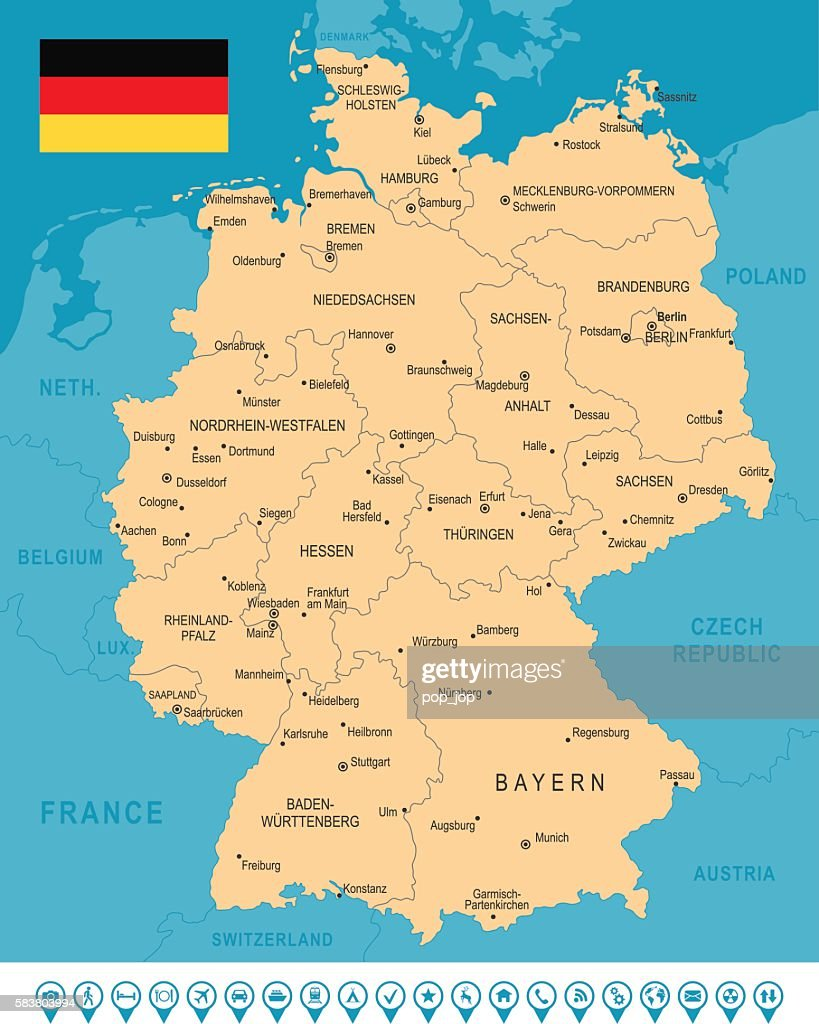 Germany Map Infographic Vector Art Getty Images