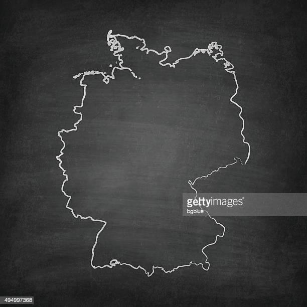 Allemagne carte sur tableau noir-Chalkboard